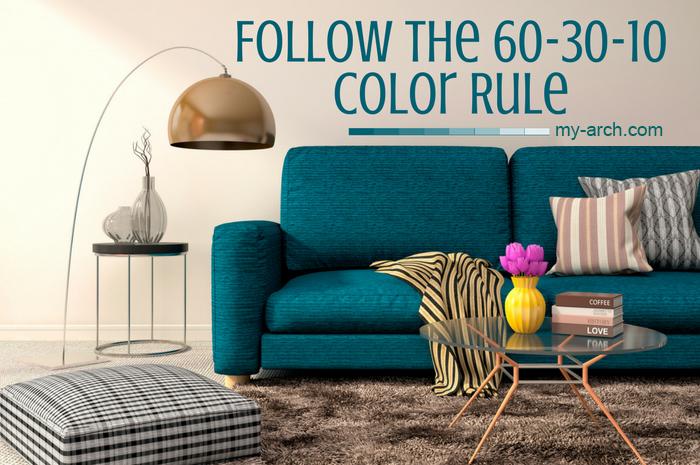 Chọn màu cho không gian nội thất